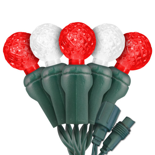 Candy Cane (Red & Pure White) Commercial Grade G12 LED Light String