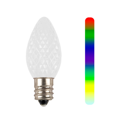 C7 7-Color Change Faceted LED Replacement Bulb
