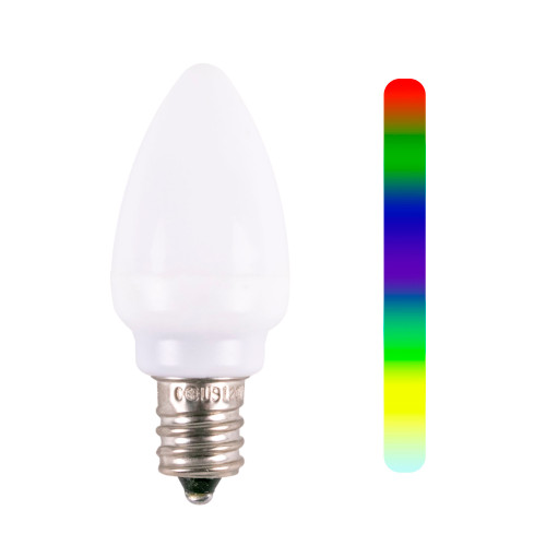 C7 Color Change Smooth LED Replacement Bulb - 7-Color