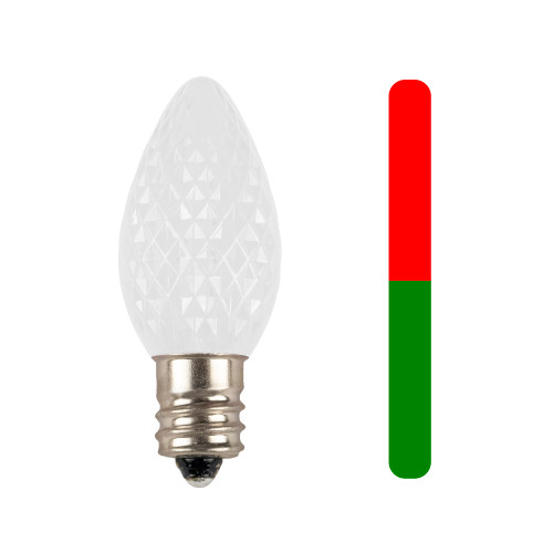 Red to Green C7 Two Color Change LED Replacement Bulb