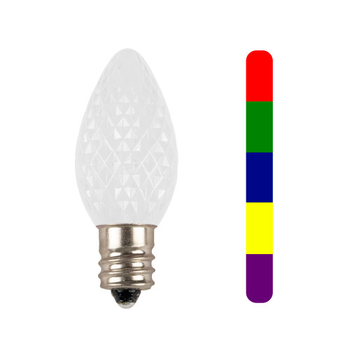 C7 SMD Multi Color Slow Change LED Replacement Bulb