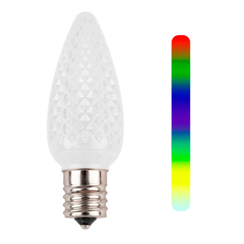 C9 7-Color Change Faceted LED Replacement Bulb