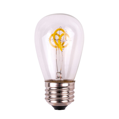 S14 12V Smooth Glass LED Replacement Bulb - Warm White