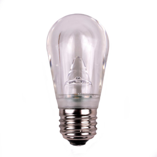 S14 SMD Smooth Plastic Dimmable LED Replacement Bulb - E26 Base - Warm White
