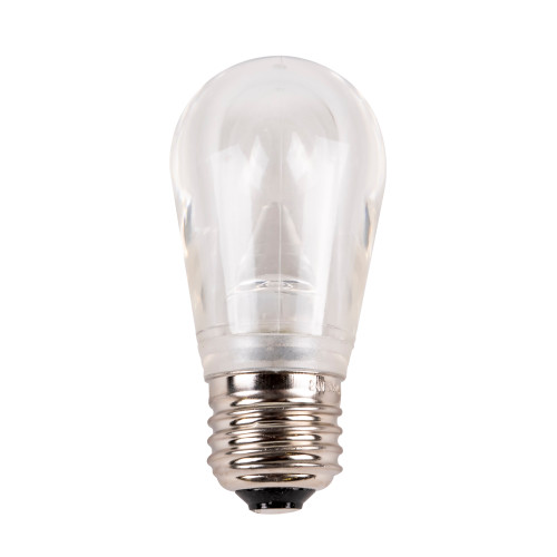 S14 Smooth Plastic Dimmable LED Replacement Bulb - E26 Base - Cool White