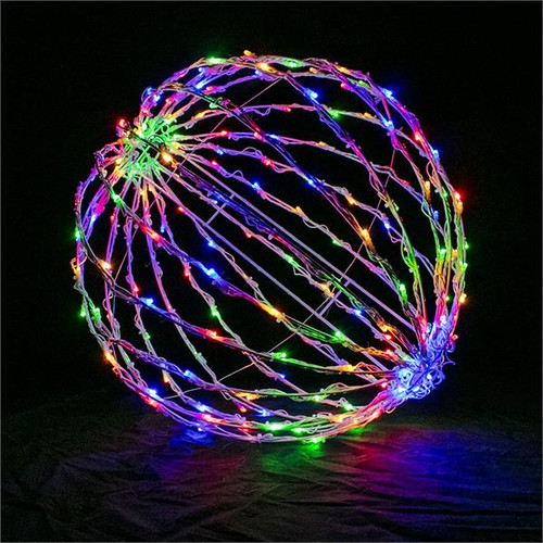 "Multi Color 16"" Folding LED Light Sphere"