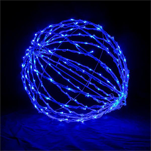 "Blue 20"" Folding LED Light Sphere"