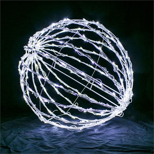"Cool White 32"" Folding LED Light Sphere"