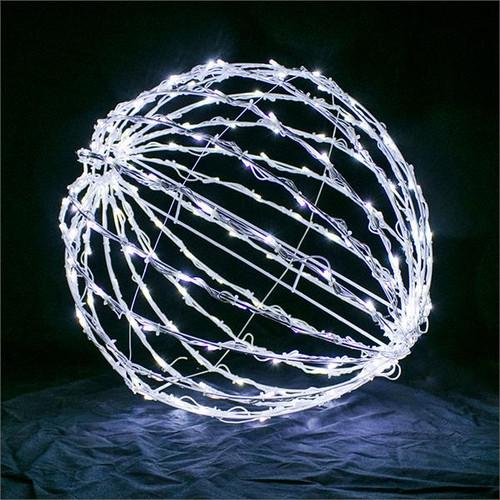 """Cool White 32"""" Folding LED Light Sphere"""