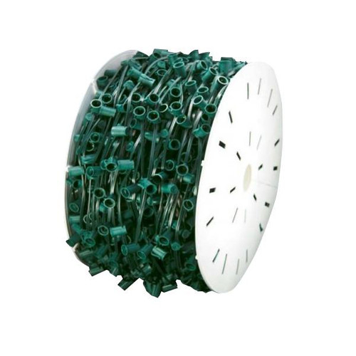 1000' C7 Socket Wire Spool Green