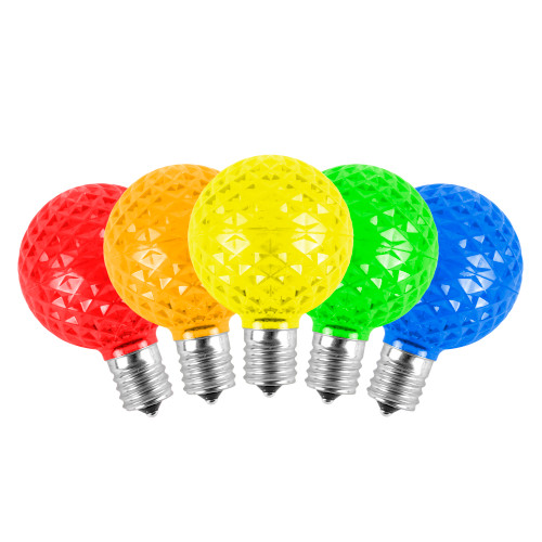 Unlit G50 5-Multi Color LED Replacement Bulbs