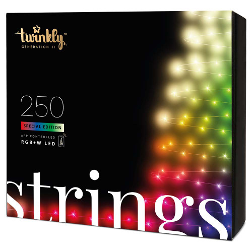 Twinkly 5MM Conical String Light - Green Wire - 250 Bulbs - RGBW