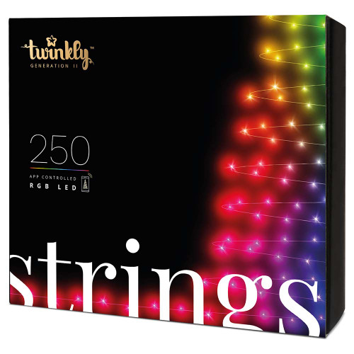 Twinkly 4.3MM Conical String Light - Green Wire - 250 Bulbs - RGB