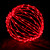 """Red 16"""" Folding LED Light Sphere"""