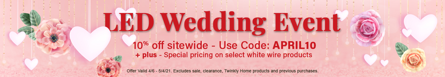 LED Wedding Lights on sale