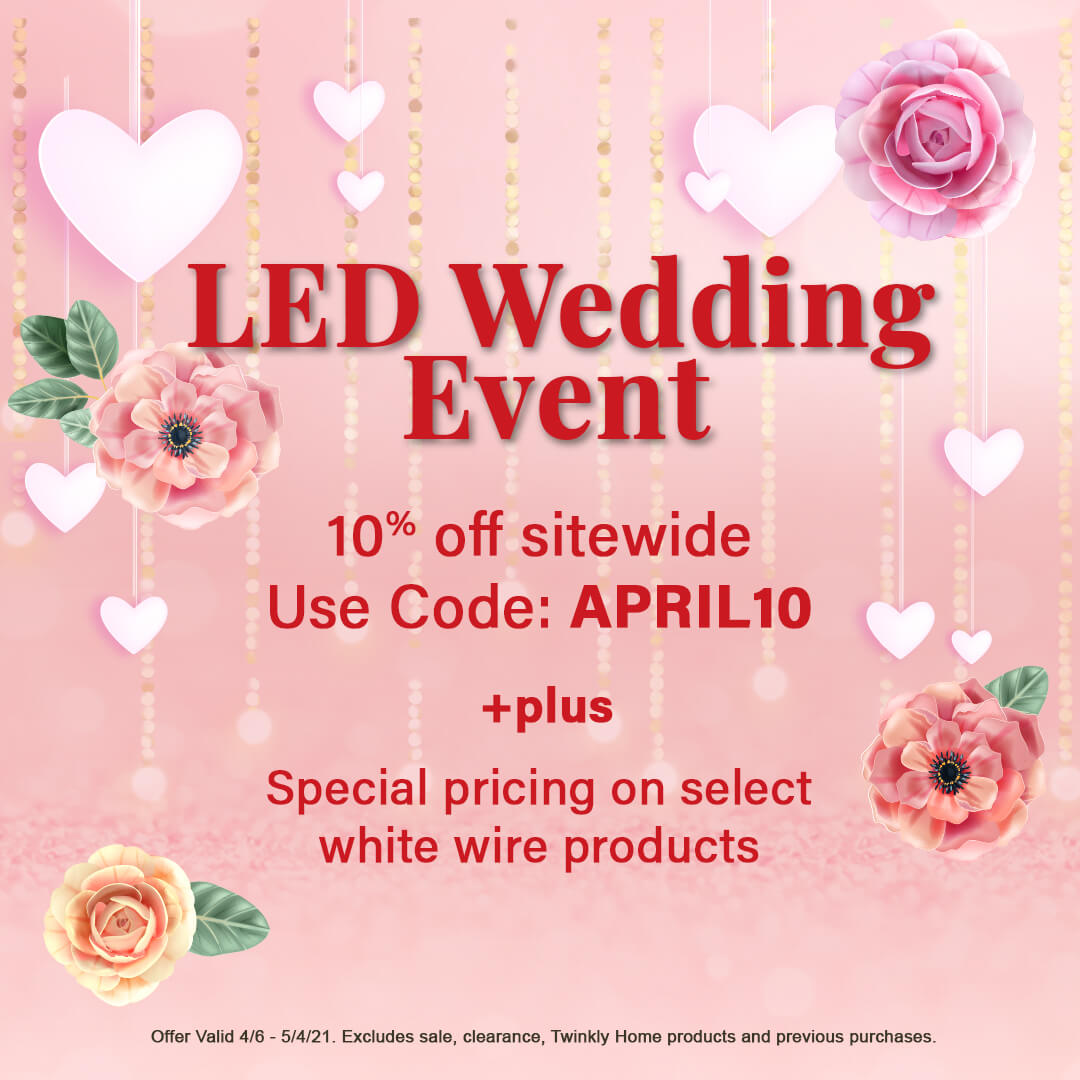 Save on Wedding LED lights