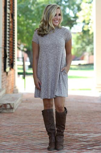 Follow Your Dreams Dress: Brown