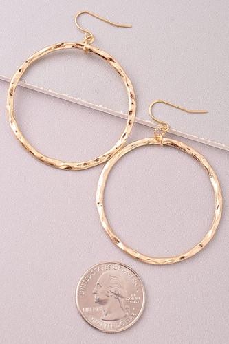 Jumping Through Hoops Earrings: Gold