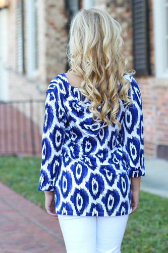 Spring Rays Top: Blue/White