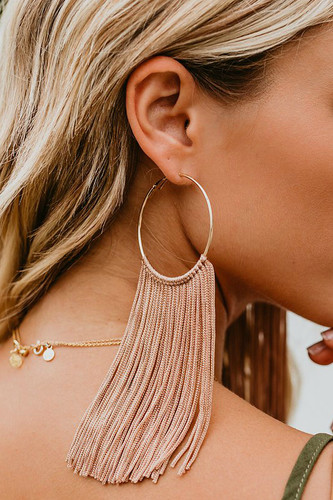 Fun Addition Earrings: Natural