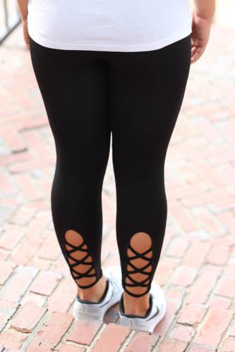 Work It Out Leggings: Black