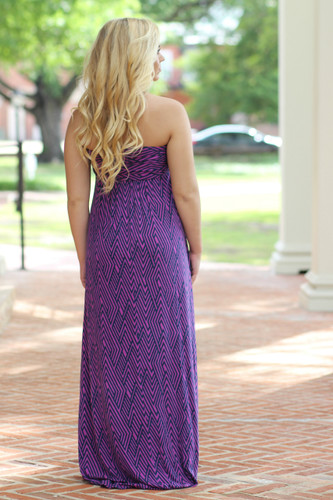Beachy Keen Maxi Dress: Pink/Navy