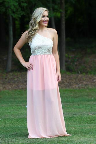 Tropical Occasion Maxi Dress: Blush