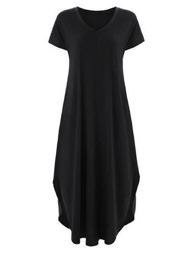 The Addison T-Shirt Maxi Dress: Black