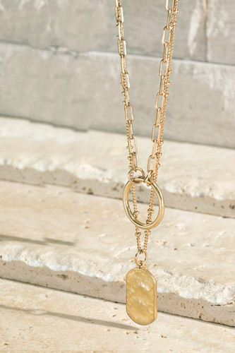 Style Force Layered Necklace: Gold