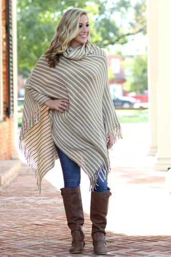Call It A Day Poncho: Mustard