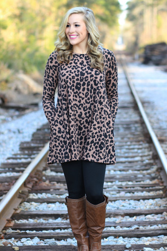 Nothing Like You Tunic: Leopard