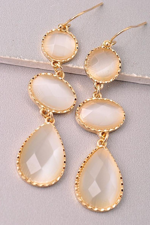 Drop Earrings: Ivory