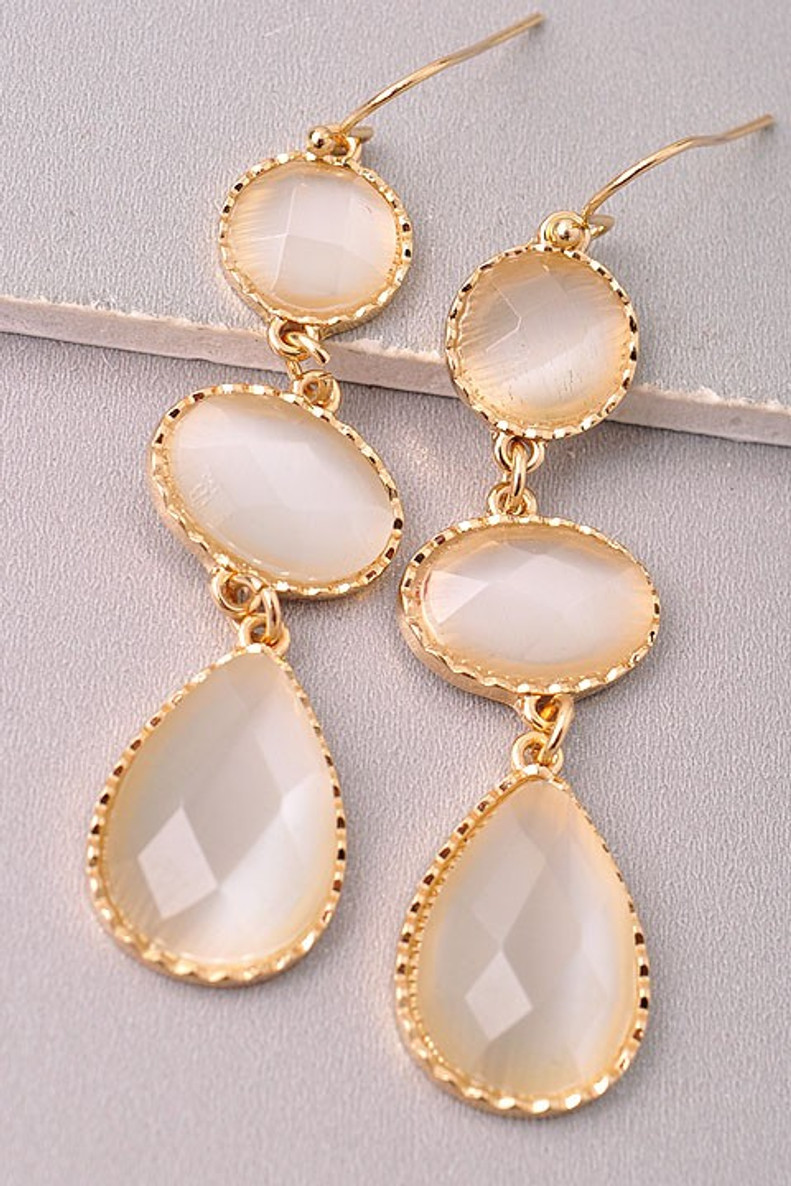Drop Earrings: Ivory
