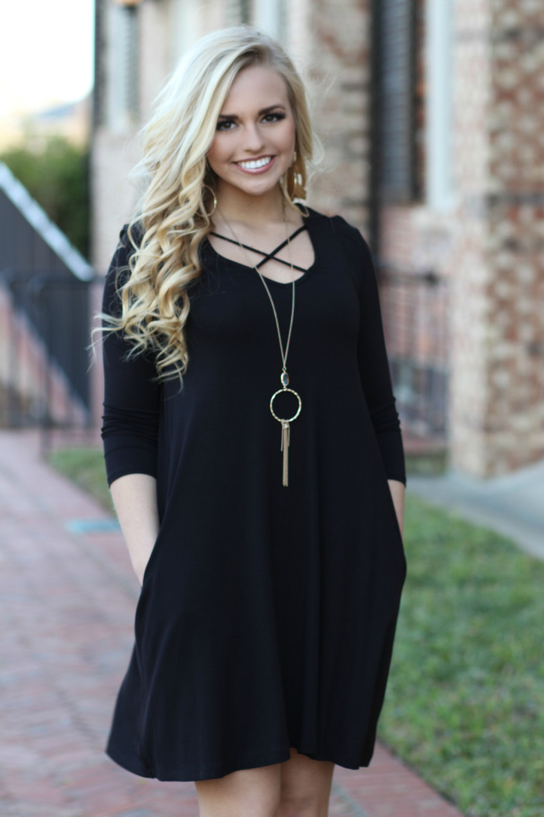 Criss Cross Dress: Black