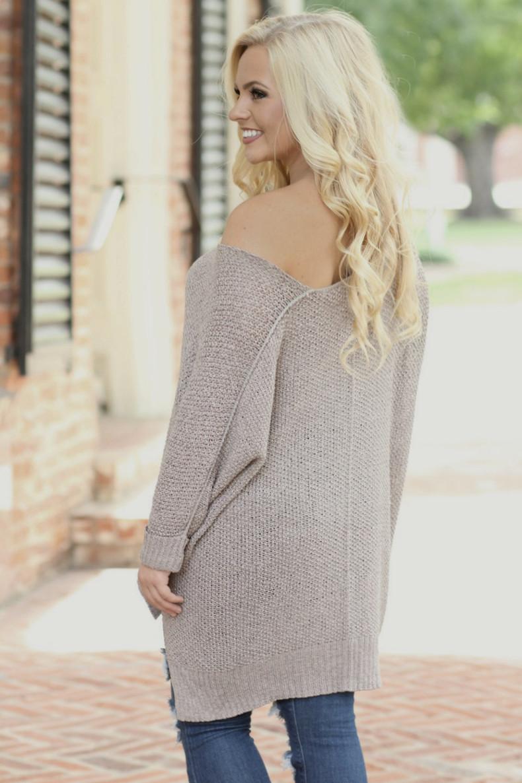 Oversized Sweater: Mocha