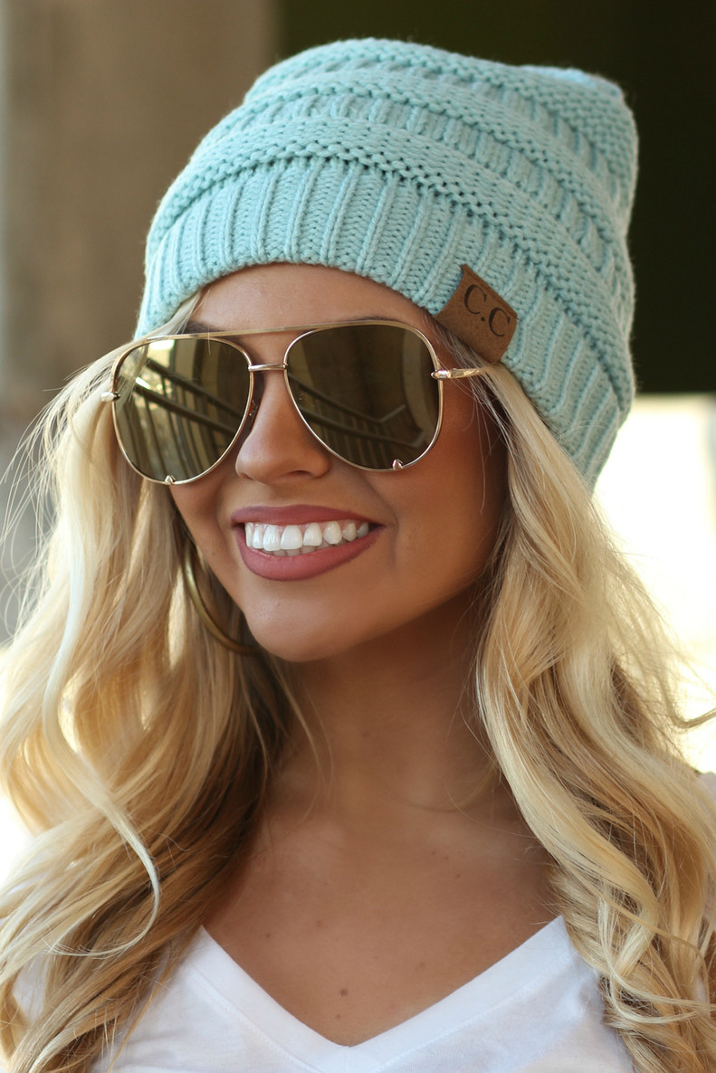 Chilly Day Beanie: Mint
