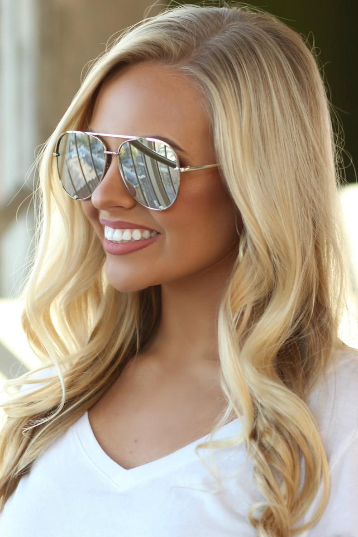 The Luna Sunglasses: Silver/Silver