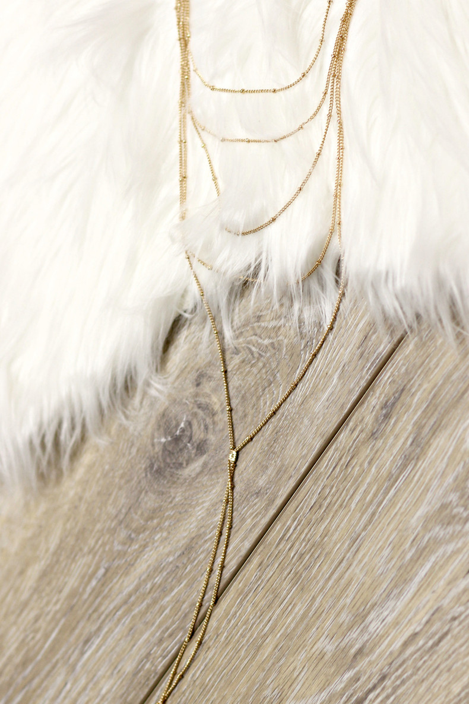 Layered Choker Necklace: Gold