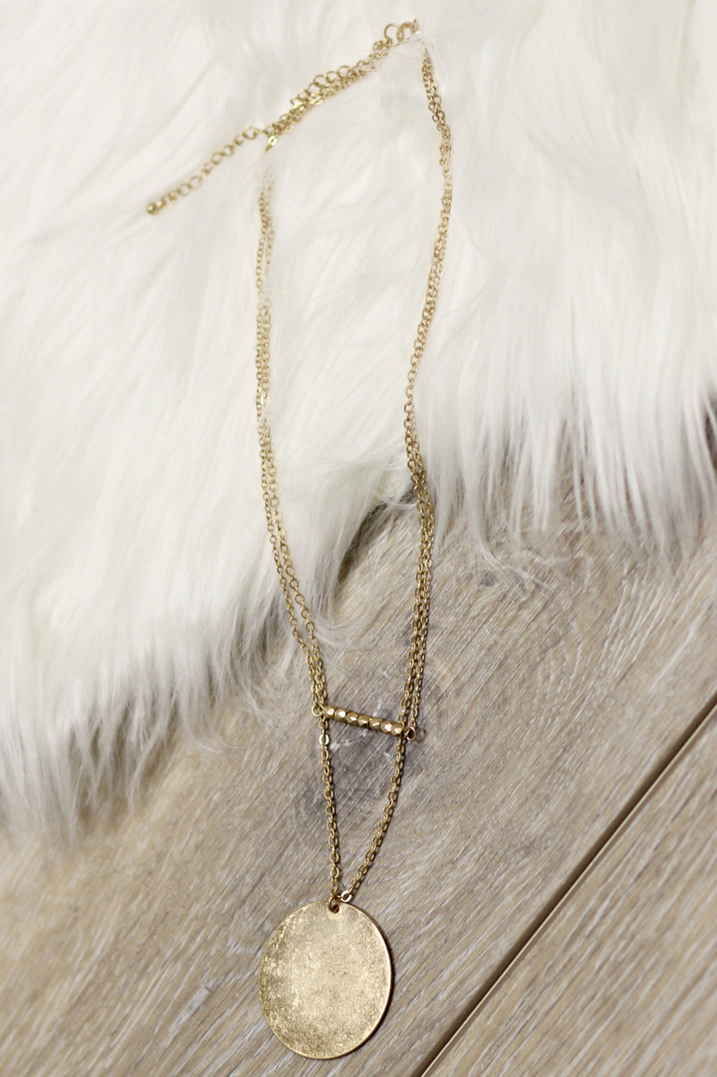 Wild At Heart Layered Necklace: Gold