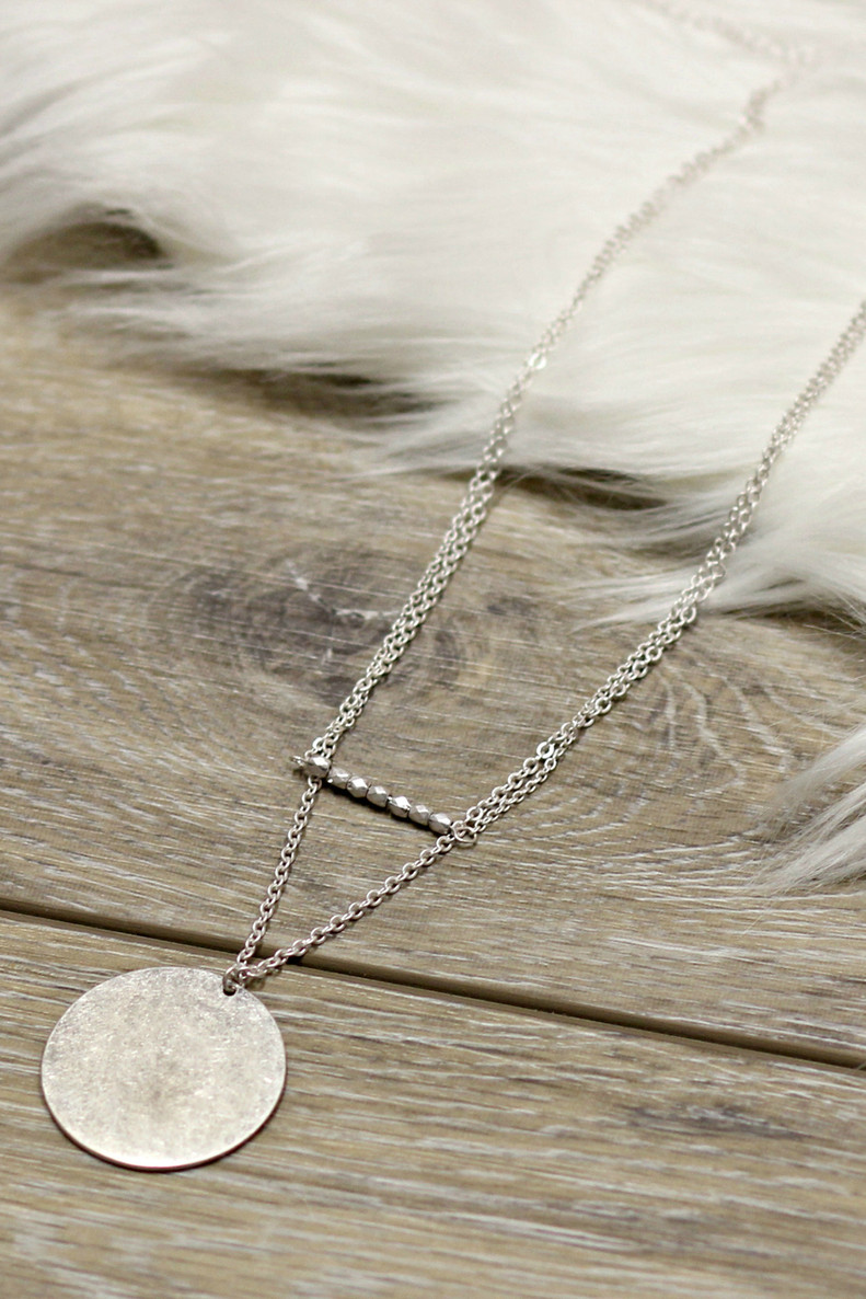 Wild At Heart Layered Necklace: Silver