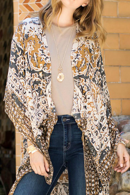 Fall Kimono: Charcoal