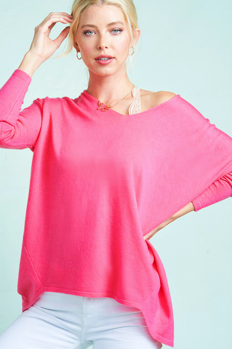 Girls Just Want To Have Fun Sweater: Hot Pink