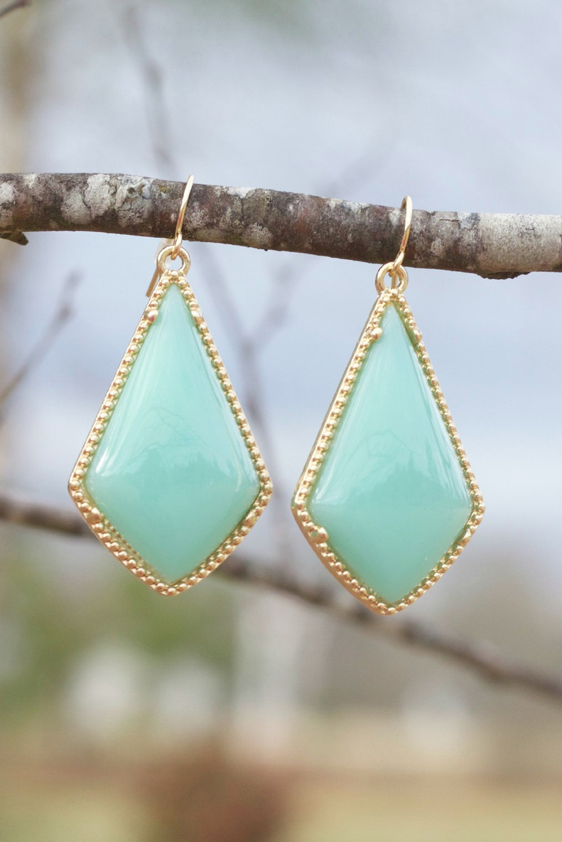 The Tinsley Drop Earrings: Mint