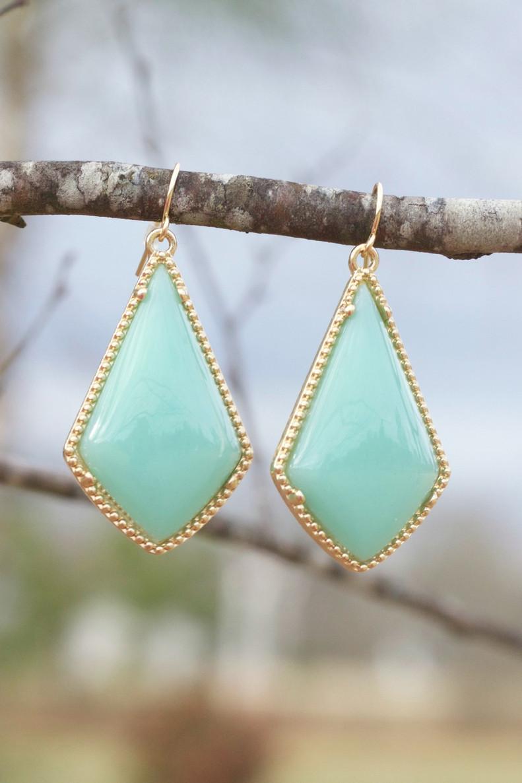 The Tinsley Drop Earrings: Mint