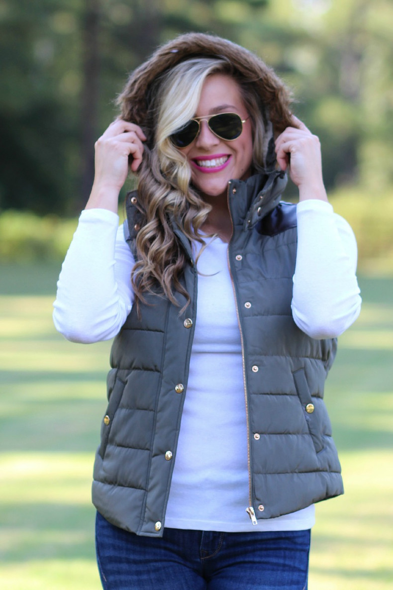 Mountain View Vest: Olive