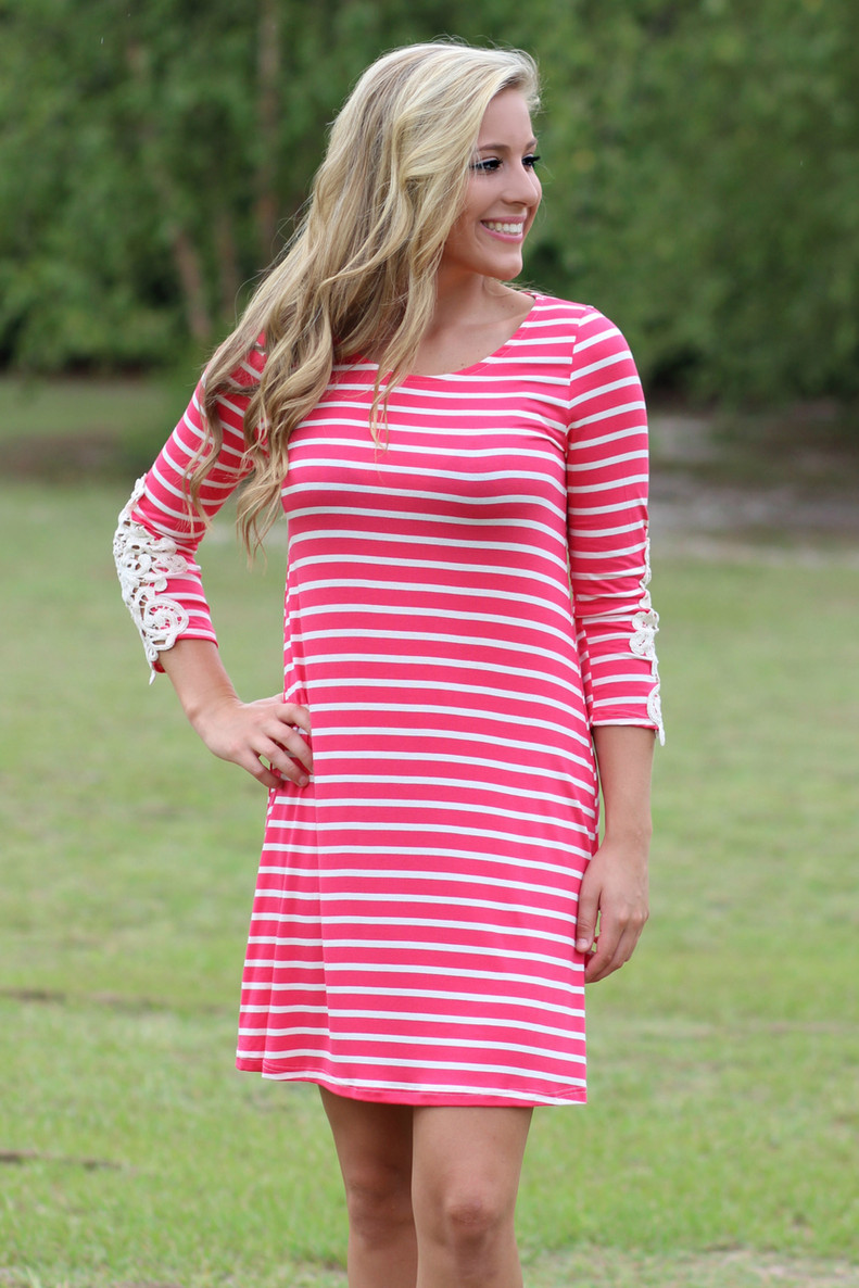 Arms Wide Open Dress: Coral
