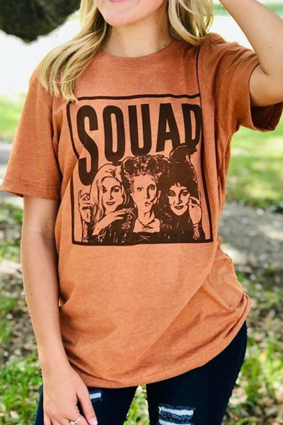 Black or Orange Print Halloween Hocus Pocus You Coulda Had a Bad Witch T-Shirt