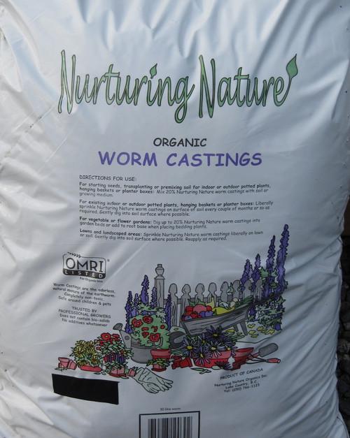 Nurturing Nature Organic Worm Castings 8 Lt