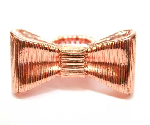 Rose Gold Large Metal Bow Ring