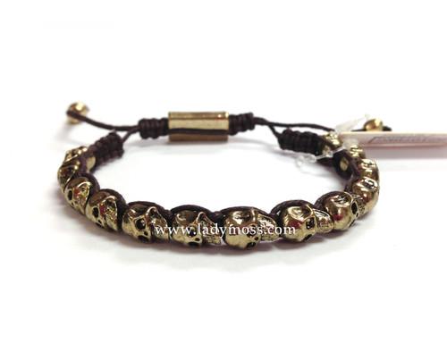 Brown Skull Bracelet